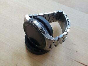 Samsung Galaxy Smart Watch SM-R805U 46mm LTE Silver Case, 2 Straps Metal & Black