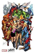 AVENGERS 1 RARE J SCOTT CAMPBELL STAN LEE SDCC COLOR VARIANT NM 2nd PRINT
