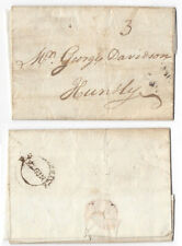 ELGIN Double Arc Postmark 1787, Entire to Huntly