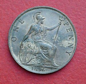 Victoria 1896 Penny - Top grade