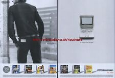 """Gameboy Advance Sp """"A Choice That Fits You"""" 2003 Double Page Magazine Advert #52"""