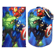 Marvel Avengers Indoor Slumber Sleeping Bag w/ Drawstring Backpack Boys Kids NEW