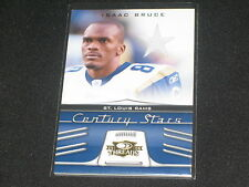 ISAAC BRUCE RAMS LEGEND AUTHENTIC EVENT GAME USED JERSEY FOOTBALL CARD /250