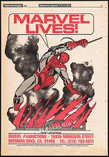 MARVEL PRODUCTIONS LIVES!__Original 1984 Trade print AD_comic poster__SPIDER-MAN