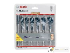 Bosch 2608587009 7pc Self Cut Wood Drill Bit Set + 152mm extension | Brand New