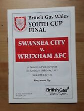 SWANSEA CITY v WREXHAM FAW Youth Cup Final 1990/91