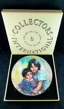 """Royal Doulton Collector Plate by Lisette De Winne """"My Little Brother"""" 1983"""