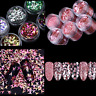 Nail Art Glitter Powder Tips Silver Pink Sequin Flakes Manicure Accessories DIY