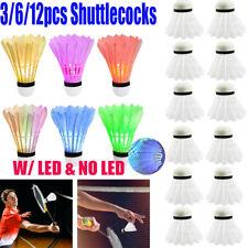 12pcs Durable Sport Goose Feather Shuttlecocks Badminton Ball Training Game AU