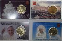 COIN CARD VATICANO 50 CENTIMOS. DIFERENTES AÑOS. SC. ENVIO CERTIFICADO