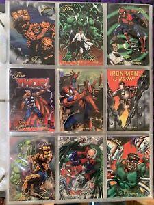 1994 Marvel Flair, Complete Base Set 1-150 & ALL 18 Power Blast Inserts!!! RARE!