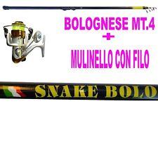 canna bolognese metri 4 + mulinello+filo canna con mulinello + filo pesca trota
