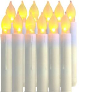 10 Led Christmas Candles With Tree Clips Fairy Lights String Lights