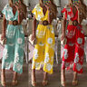 ZANZEA Women Bohemia Floral Summer Beach Dress Ladie Party Cocktail Maxi Dress