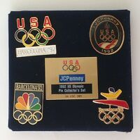 JCPenny USA 1992 America Olympic Pin Badge Collector Set Vintage Rare (N16)
