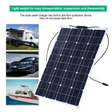 80W Panel Solar Semi-flexible Monocristalino Cargador 12V Batería Plomo-ácido