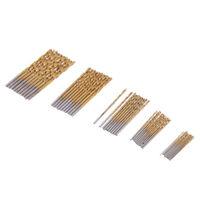 50 Pcs HSS 1.0mm-3.0mm Titanium Coated Drill Bit Set for Metal Wood Plastic