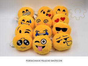 Portachiavi emoji emoticons emotion 9 cm porta chiavi chiave peluche soft