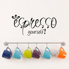 Espresso Yourself Coffee Wall Decal Kitchen Quote Home Decoration Sticker Mural
