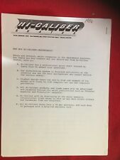NOS VINTAGE 1986 HI-CALIBER SKATES CATALOG + DEALER INFORMATION BMX RACING