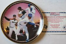 "1994 Nolan Ryan Ryan's Last Round-Up 8 1/2"" LE Plate w/COA Sports Impression New"