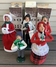 Vtg Byers Choice Christmas Carolers Lot 1989 Signed w/ Boxes Doll