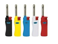 5 Ct Of Colorful MK JET CANDLE TORCH Full Size Lighters Refillable Windproof BBQ