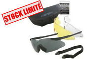 adf14e080213b9 LUNETTES BALISTIQUES ICE MARQUE ESS ARMEE MILITAIRE USA VERRE  INTERCHANGEABLE