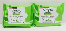 Simple Exfoliating Facial Wipes Lot of 2- 25 Each Brand New