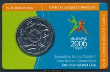 2006 Australian 50c Unc on card STUDENT DESIGN Commonwealth Games