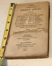 Rare 1814 Mathew Carey American Pocket Atlas