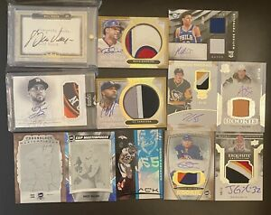 HUGE RC ROOKIE AUTO AUTOGRAPH PATCH JERSEY #1/1 NUMBERED LOT FB BB HKY BKB