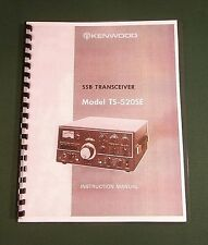 "Kenwood TS-520SE Instruction Manual: 11"" x 24"" Foldout Schematic /Plastic Covers"