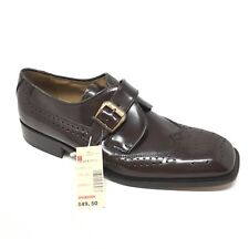 Men's NEW VINTAGE Stacy Adams Loafers Shoe Sz 10M Brown Monk Strap Made Spain A5