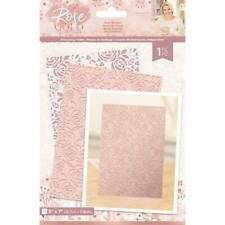 "Sara Davis - Rose Gold Craft Collection - 5 x 7"" Embossing Folder - Rose Blooms"