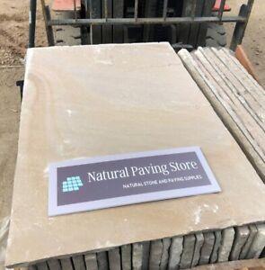 Raj Green Sandstone paving Natural Indian Patio slabs 22mm Calibrated 600X900