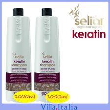 Shampoo per capelli trattati e colorati 2pz da 1000ml Seliar Keratin