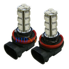A Pair Of H8 H11 18-SMD 5050 LED Foglight DRL Driving Lamp Color Amber Strobe