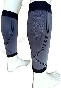 Calf Leg Running Compression Sleeve Socks Shin Splint Support Brace Guard Sports