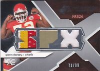 GLENN DORSEY 2008 SPX RC WINNING MATERIALS DUAL PATCH + 3 COLOR PATCH FB2627