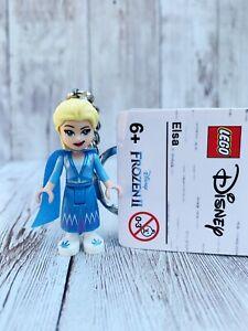 GENUINE LEGO DISNEY FROZEN 2 ELSA MINIFIGURE KEYRING KEYCHAIN 853968