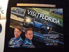 2017 Signed IMSA Visit Florida Card SDR Motorsports Goossens Van Der Zanda Glen