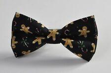 Gingerbread Christmas Xmas Black Bow Tie Bowtie for Men / Yoth / Kids Boy / Baby