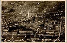 More details for postcard preston lancashire aerial view showing factories rp