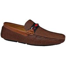 Hombre Mocasines Piel Sintética Zapatos Conducción sin Cordones Bote Formal Boda