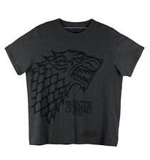 Game Of Thrones Winter Is Coming Stark Wolf T-Shirt Official HBO Licensed Sz XXL