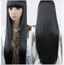 Women Long Black Straight Fashion Cosplay Full Wig Wigs Heat Resistant Hair Wigs