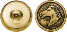 Antique Gold Finish Horse Head Button Crafts Sewing Equestrian New in Package 72