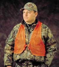 Hunter's Specialties Safety Vest Adult Mesh Blaze Orange Safety Vest Quiet 02006