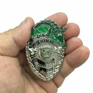 Silver Version Disney Security Inspired Animal Kingdom Game Warden Pin MR-013A
